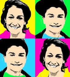mother and son pop art
